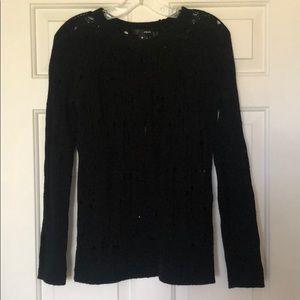 Aqua black knit sweater size small